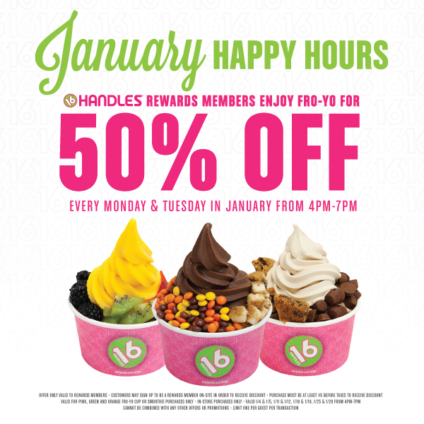 January Happy Hours 16handles16handles16 Handles Locations
