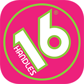 16 Handles Logo, click to go https://www.thelevelup.com/a/16handles for rewards program