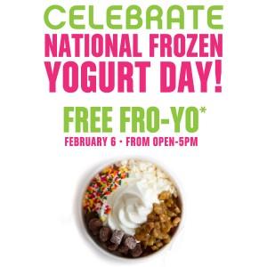 Free Fro-Yo on National Frozen Yogurt Day